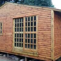 Log Cabin Glass Cottage Pane sliding door
