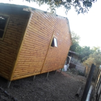 Side View of 3 Bedroom Log Home on Stilts