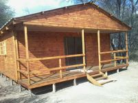 2 Bedroom Log Profile Unit with Veranda on Stilts