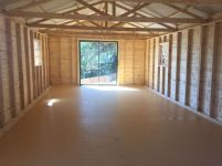Log Dance Studio Inside with Vinyl flooring