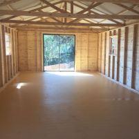 Log Dance Studio Inside with Vinyl flooring