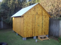 Standard Tool Shed with Steps