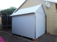 All Weather (Nutec) Tool Shed Side View