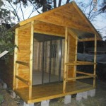 Log Wendy and Veranda with Aluminium Sliding Door