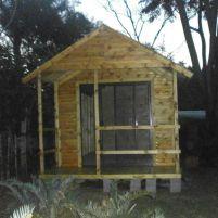Log Wendy and Veranda with Aluminium Sliding Door