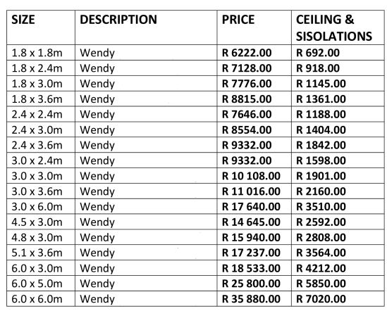 Log Wendy Pricelist